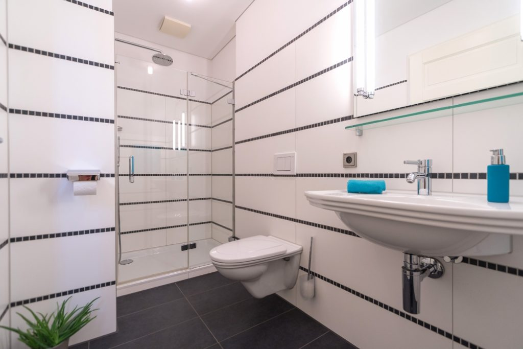 Gäste-Bad der exklusiven Dachgeschoss-Wohnung am Ostbahnhof