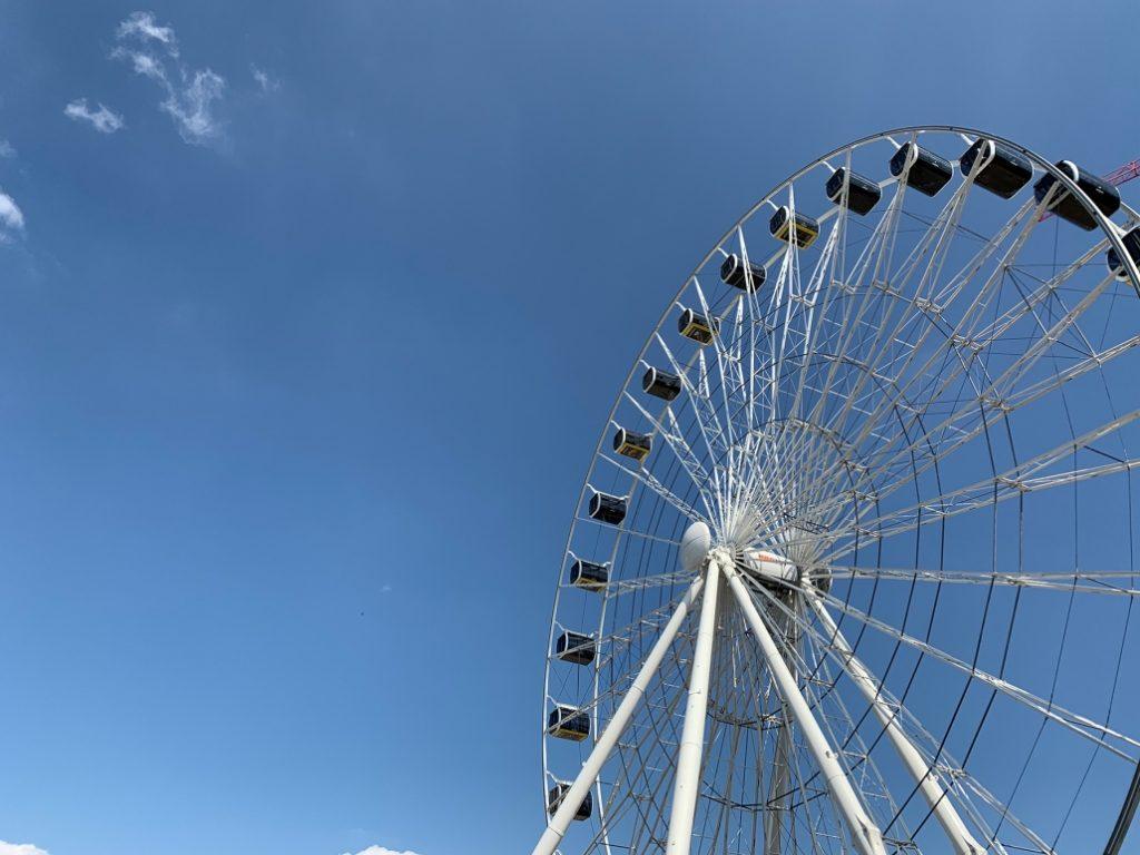 Foto des Riesenrads Hi-Sky am Ostbahnhof