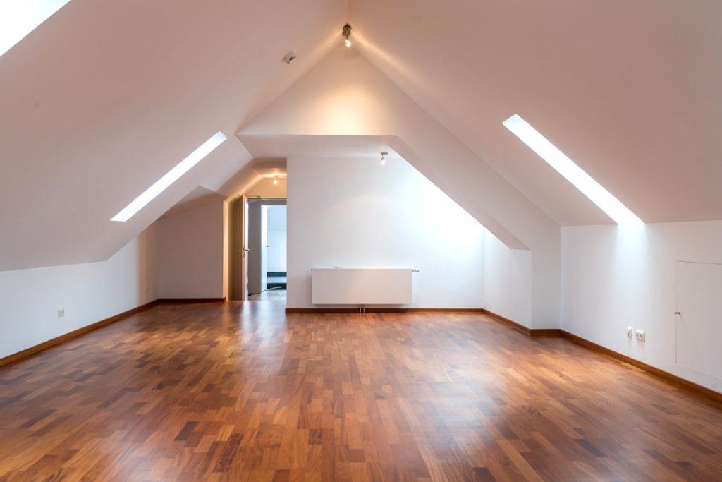 Erste Ansicht des Hobbyraums im Obergeschoss der exklusiven Dachgeschoss-Wohnung am Ostbahnhof