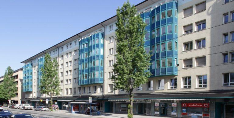 Vorderansicht des Wohnhauses in der Bayerstrasse