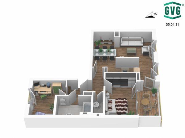 05.04.11 Ansicht5 1030x773 1 600x450 - Neubau! Erstbezug! Moderne 3-Zimmer-Wohnung mit Loggia