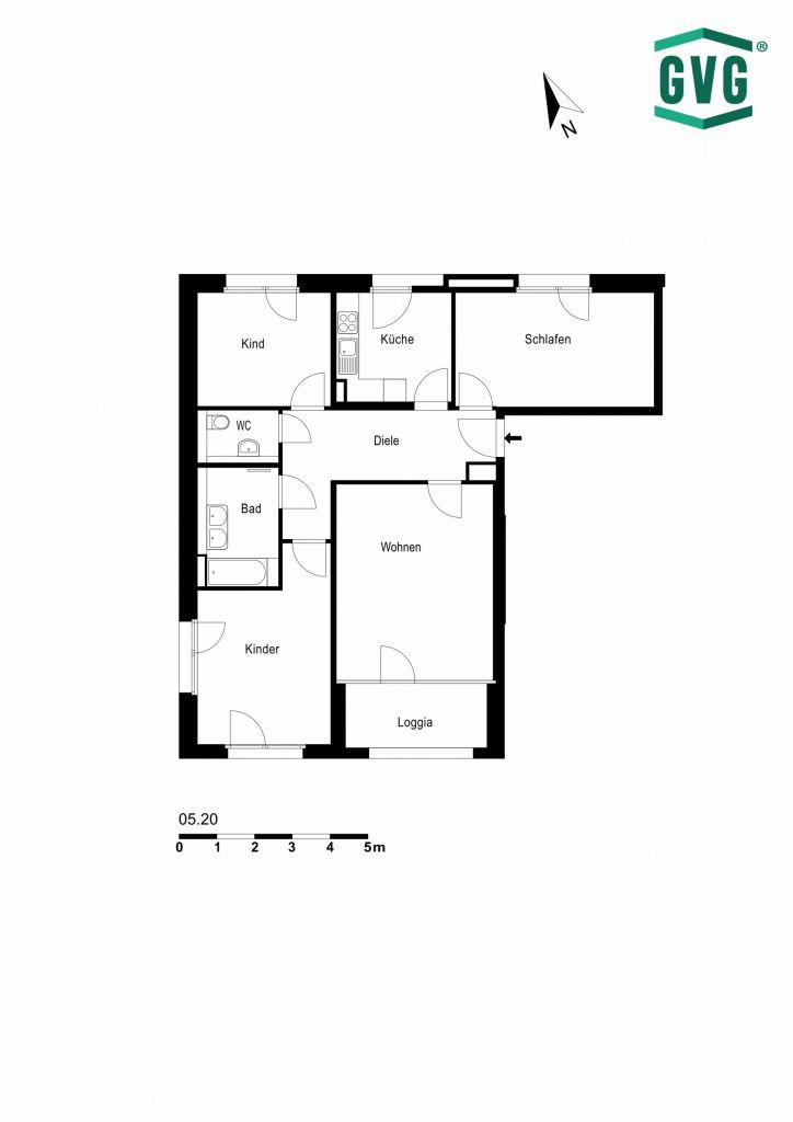 05.20 724x1024 - Neubau Erstbezug! Moderne 4-Zimmer-Wohnung mit Einbauküche und Terrasse! (Whg. 05.20)