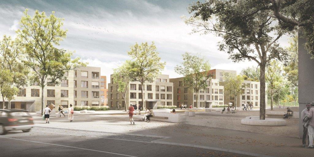 WA 2 3 Aussenansicht - Erstbezug! Bäckerei- / Caféfläche in attraktiver Neubauanlage in Pasing-Obermenzing
