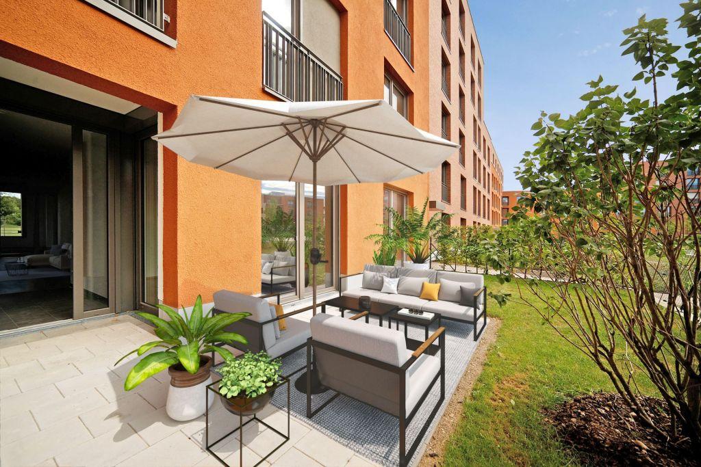 Visualisierung Garten 1024x683 - Neubau! Erstbezug! Großzügige 2- bis 4-Zimmer-Wohnungen in Neupasing
