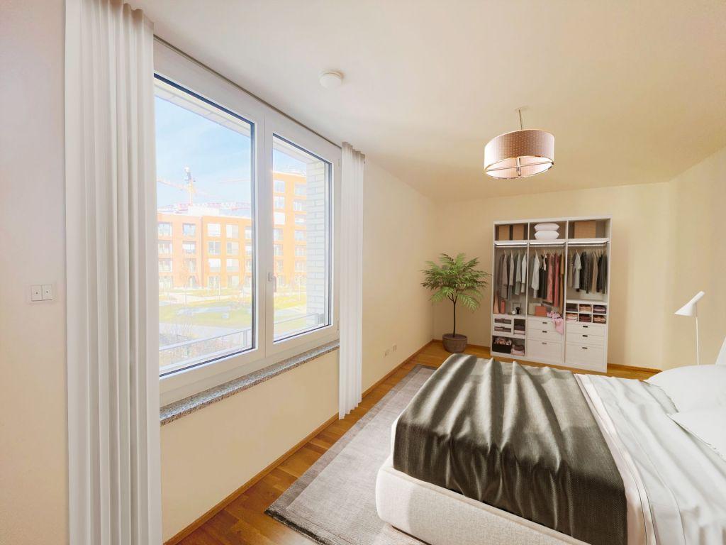 Visualisierung Schlafzimmer2 1024x768 - Neubau! Erstbezug! Großzügige 2- bis 4-Zimmer-Wohnungen in Neupasing