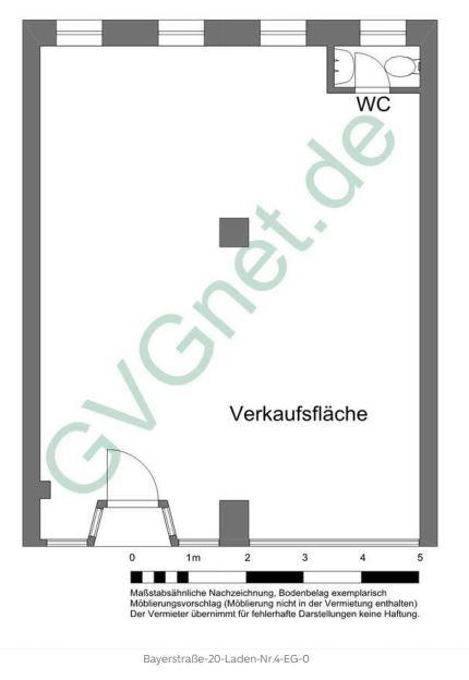 Grundriss Laden 4 - Kleine Verkaufsfläche direkt am Münchner Hauptbahnhof