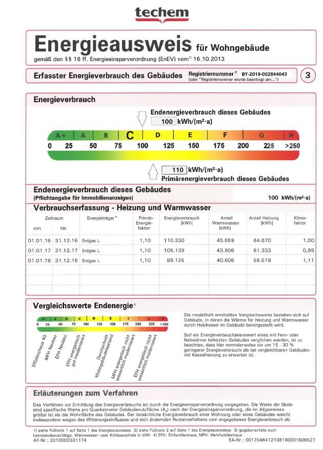 Energieausweis 2jpg - 3-Zimmer-Wohnung mit zwei Balkonen am Hirschgarten