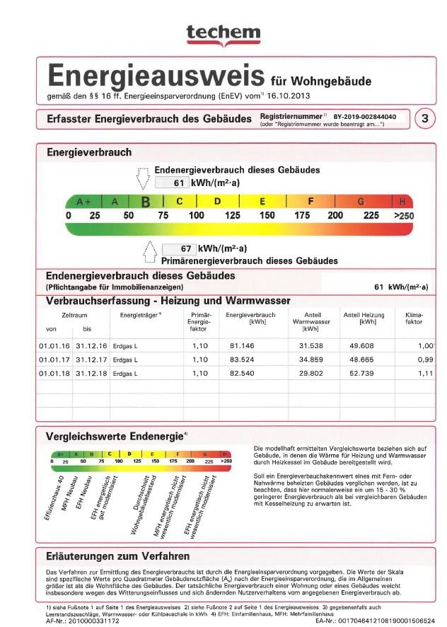 Energieausweis 3 - Hobbyraum nähe S-Bahn-Station Laim