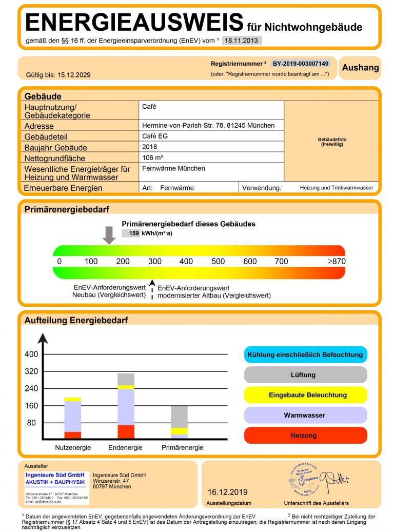 Energieausweis Cafe EG HvP Gewerbe 2 6 768x1037 - Erstbezug! Bäckerei- / Caféfläche in attraktiver Neubauanlage in Pasing-Obermenzing